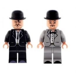 Comedy Duo Laurel and Hardy - Custom Designed Minifigures